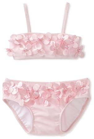 Kate Mack Baby-girls Infant Poolside Petals Swim Bikini, Pink, 12 Months