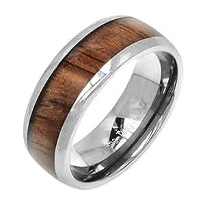 Amazon.com: Tungsten Koa Wood 8mm Ring: Wedding Bands: Jewelry