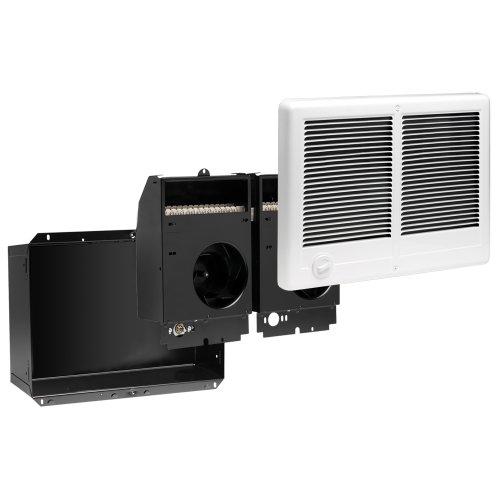 Cadet Manufacturing 67526 240-Volt White Com Pak Twin Double Fan Forced Electric Wall Heater, 3000-Watt