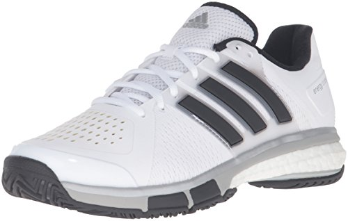 adidas Performance Men's Energy Boost Tennis Shoe, White/Black/Metallic Silver, 9 M US (Mens Energy Boost compare prices)