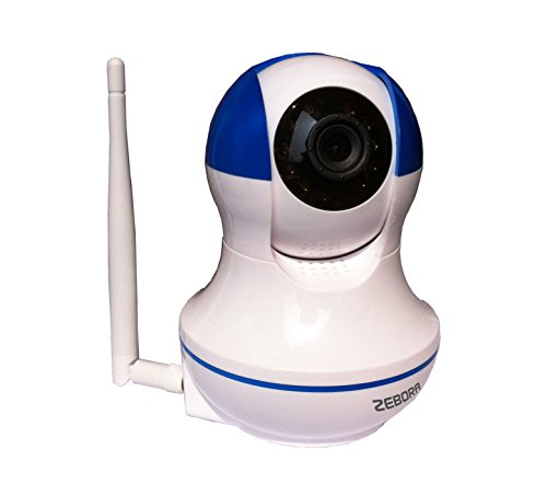 Zebora 720P Remote Surveillance Monitoring Internet WiFi Wireless Network IP Home Security Camera, Baby Video Monitor or Pet Monitor with Motion Detection, Two Way Audio and Night Vision