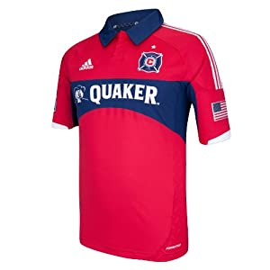 MLS Chicago Fire Short Sleeve Authentic Jersey by adidas