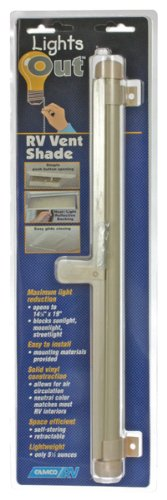 Camco 42913 Retractable Lights Out Vent Shade (Cream) (Rv Vent Cover Inside compare prices)