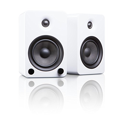 "Kanto YU5 5.25"" 2-Way Powered Bookshelf Speakers with aptX Bluetooth 4.0 -  Gloss White (YU5GW)"