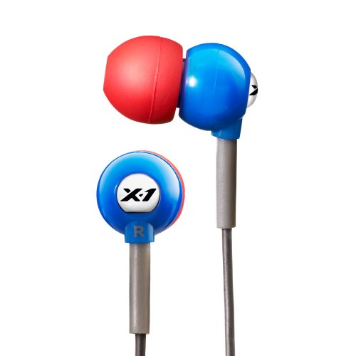 X-1 (Powered By H2O Audio) Cb1-Rb-X Flex All Sport Waterproof In-Ear Headphones (Super Hero Blue)