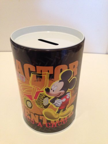 Mickey with Tractor Coin Bank for Kids - 1