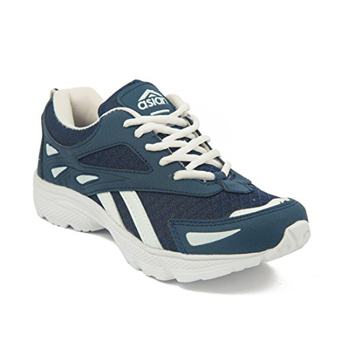 Asian-CREATIVE-White-and-Blue-Childs-Range-Running-shoes