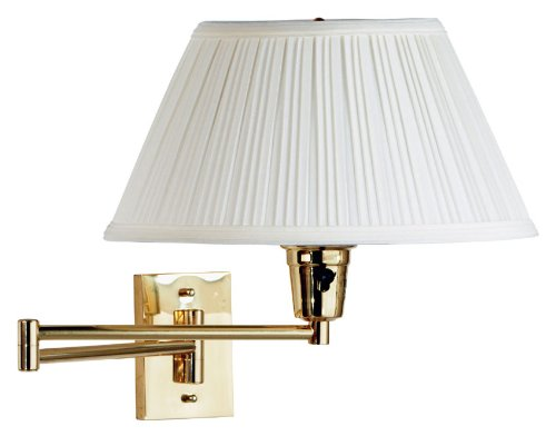 Kenroy Home 30100 Swing Arm Wall Sconce From The Element Collection, Polished Brass front-767971