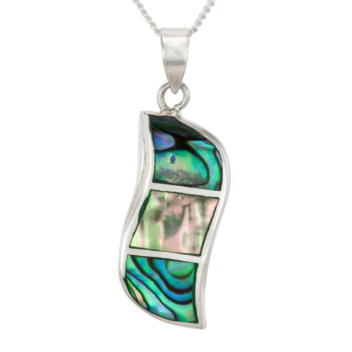 Ladies' Abalone Drop Pendant Necklace, Silver