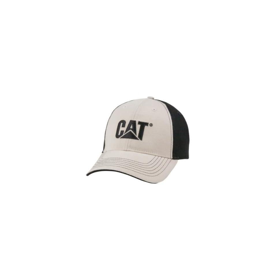 57b2025cfd58d Caterpillar CAT Black Khaki Cotton Twill Cap on PopScreen