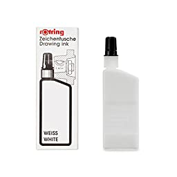 rOtring Isograph Technical Drawing Pen, Liquid Ink, 23 ml, White