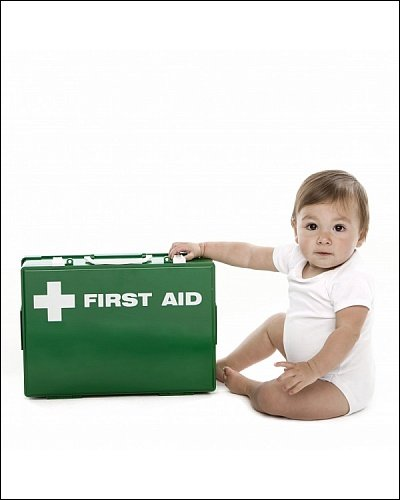 Photographic Print of Baby first aid from Science Photo Library