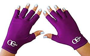 OC Nails Oc Nails Uv Shield Glove Anti Uv Glove For Gel Manicures With Uv/Led Lamps