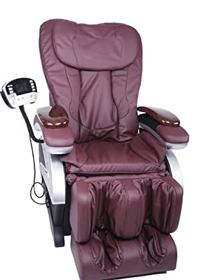 Electric Full Body Shiatsu Massage Chair Recliner w/Heat Stretched Foot Rest 06C