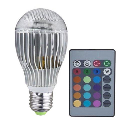 SODIAL (R) E27 8W luce LED RGB 2 milioni colori lampadina con telecomando 110V-240V