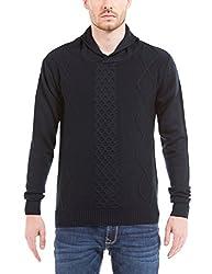Shuffle Men's Sweater (8907423023277_2021521901_X-Large_Navy)