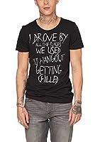 s.Oliver Denim Herren T-Shirt Single Jersey, mit Print