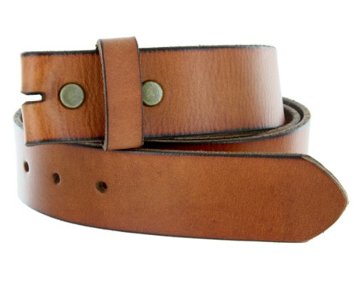 """BS-40 Vintage Full Grain 100% Leather Distressed Style Snap on Belt Strap 1 1/2"""" Wide"""