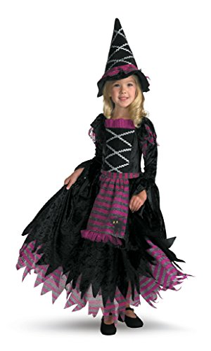 Girls Fairy Tale Witch Kids Child Fancy Dress Party Halloween Costume