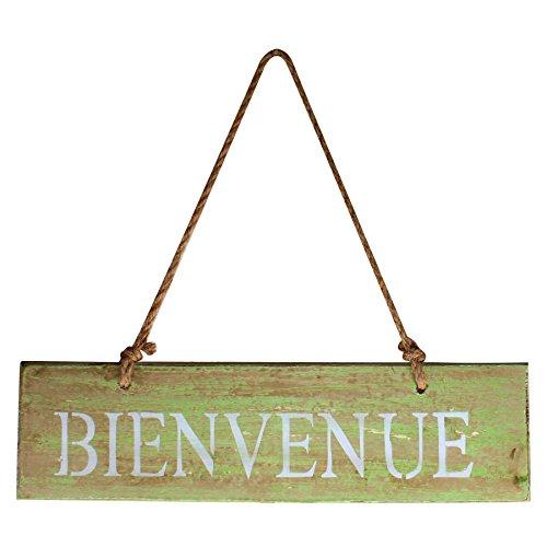 Decoracin-Vintage-Bienvenue-Cartelito-de-madera-envejecida-para-colgar-de-bienvenida-20-x-12-cm