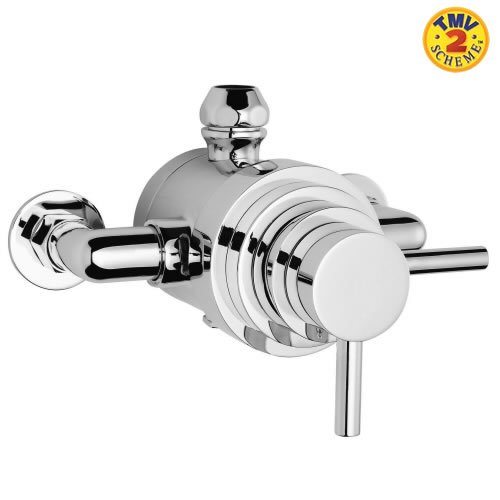 Solid Brass Dual Exposed Thermostatic Bathroom Shower Mixer Valve