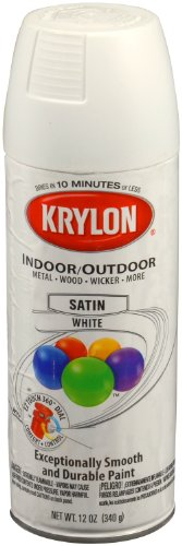 Krylon 53564 Satin White 'Satin Touch' Decorator Spray Paint - 12 oz. Aerosol (Interior Spray Paint compare prices)