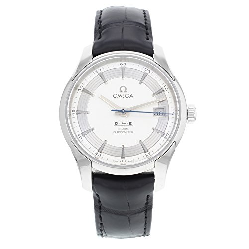 Omega De Ville Hour Vision Silver Dial Black Leather Mens Watch 43133412102001 (Omega Hour compare prices)