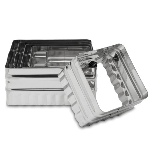 Ateco 6-Piece Double Sided Square Cutter Set (Ateco 6 Cutters compare prices)