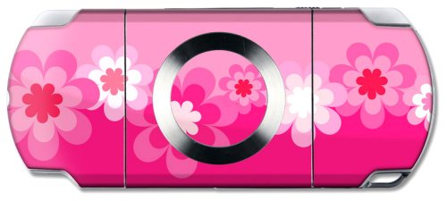 Wrapstar Retro Pink Flower Skin for PSP Slim & Lite (PSP)