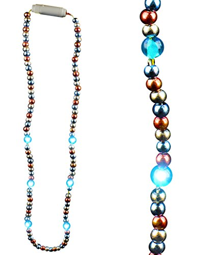 Fun Central AM600 LED Light Up 25 Inch Bead Necklace - Patriotic - 1