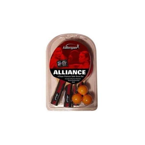 Killerspin Alliance 4 pack Table Tennis Racket Set