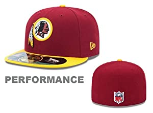 Washington Redskins On-Field 59Fifty Red Fitted Sideline Hat by New Era