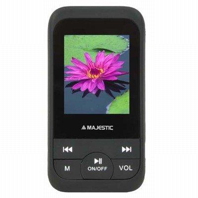 """New Majestic Lettore MP3 SDA-4071BK 4GB Micro sd 4GB, radio, display 1.8"""", registratore vocale, colore NERO"""