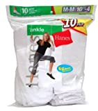 Hanes Girls Ankle Sock White