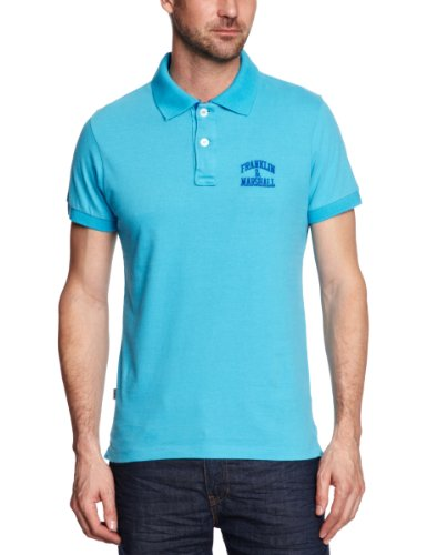 Franklin & Marshall POMC058S13 Polo Shirt Men's T-Shirt Turquoise Medium