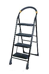 TNT 4 Steps Folding Ladder (Black)