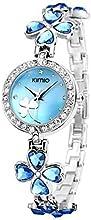 Comprar Ostan Joyería Mujeres Moda Chapado en Oro Cuarzo Pulsera Relojes con Crystals y Circonio Cúbico - Azul