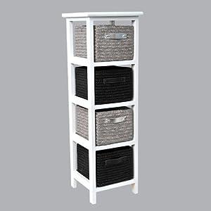 badregal mit 4 k rben stroh mitteldichte holzfaserplatte. Black Bedroom Furniture Sets. Home Design Ideas