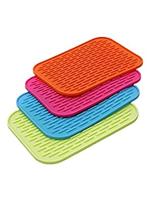 (Super Value Set of 4) High Quality Silicone Trivets / Pot Holder / Coaster / Placemat / Hot Pad