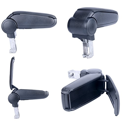 9milelake Black Leather Center Console Armrest Full Kit for VW Audi A4 2002-2006 4 Door (Audi A4 Center Console Kit compare prices)