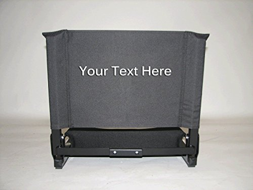 EMBROIDERED Personalized Deluxe Wide Stadium Seat by Stadium Chair (Extra Large Stadium Seats compare prices)