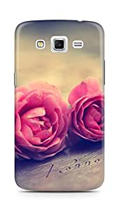 Amez designer printed 3d premium high quality back case cover for Samsung Galaxy Grand 2 G7102 (rose )