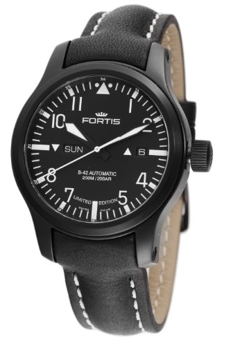 Fortis Men's 655.18.81L.01 B-42 Flieger Automatic Black Dial Watch