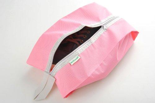Schuhtasche / -beutel für Reisen aus einfachem Stoff, Farbe: pink, Mod. JE-00013-PINK