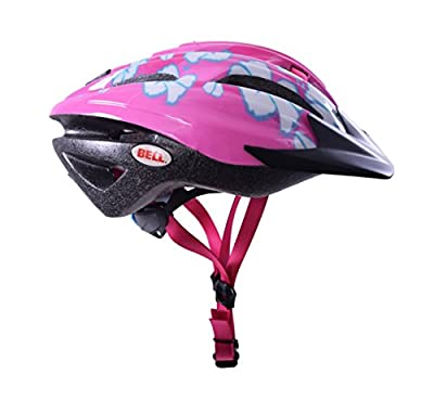 BELL COGNITO FS KIDS GIRLS CHILDS PINK FLOWERS BIKE CRASH HELMET 50-57cm by BELL