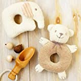 Amazon.co.jp(ハマナカ) ベビー 赤ちゃん おもちゃ の 手作りキット がらがら くまとぞう ※オーガニックコットン 使用