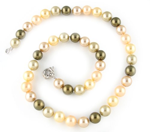 Matinee Mother of Pearl Strand Necklace - 12mm Pearls, 24