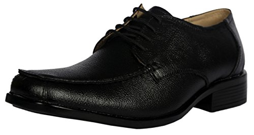 KingsToy Men's Black Leather Formal Lace Up - B013ATQ39O
