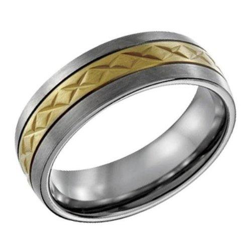 Titanium and Gold-Plated Band - Size 7