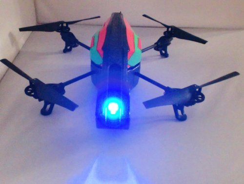 CRW® Parrot AR Drone 2.0 & 1.0 Quadcopter Blue Head Light Kit with Power Adapter Y Connector - 1